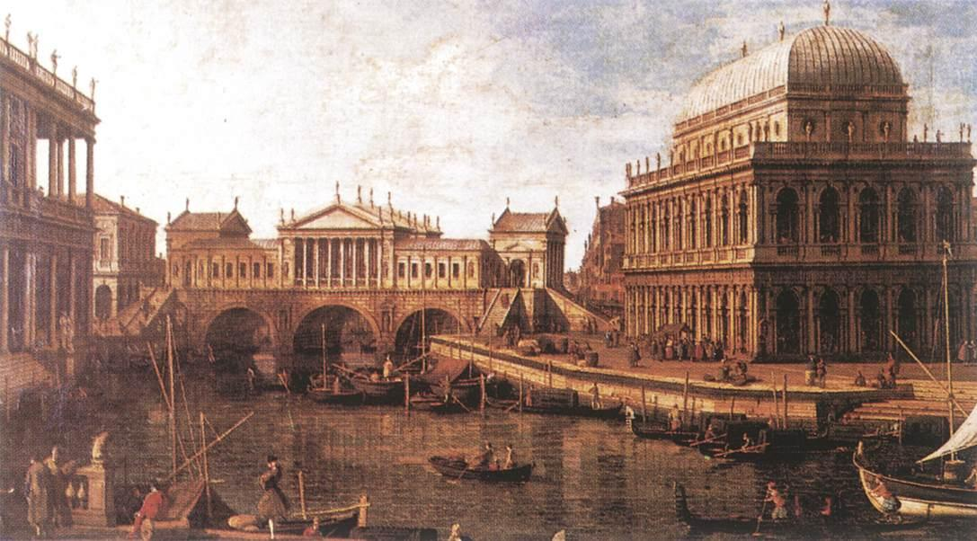 Giovanni_Antonio_Canal,_il_Canaletto_-_Capriccio_-_a_Palladian_Design_for_the_Rialto_Bridge,_with_Buildings_at_Vicenza_-_WGA03938