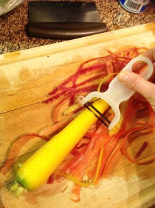 Chef's Tip: Use a vegetable peeler to peel off the outer skin. This skin is bitter. Leaving it on can leave an off-putting bitter flavor.
