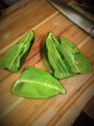 For easy prep, seed and core the peppers first, before broiling.