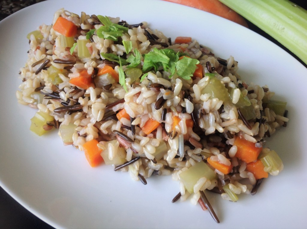 Easy Wild Rice Pilaf - Healthy, Gluten-Free, Plant-Based, Oil-Free, Vegan Recipe from Plants-Rule