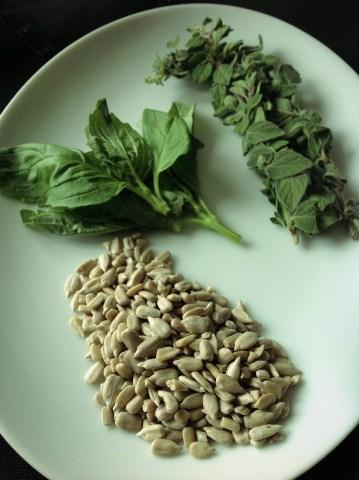 Simple, easy, delicious Greek Oregano Pesto.