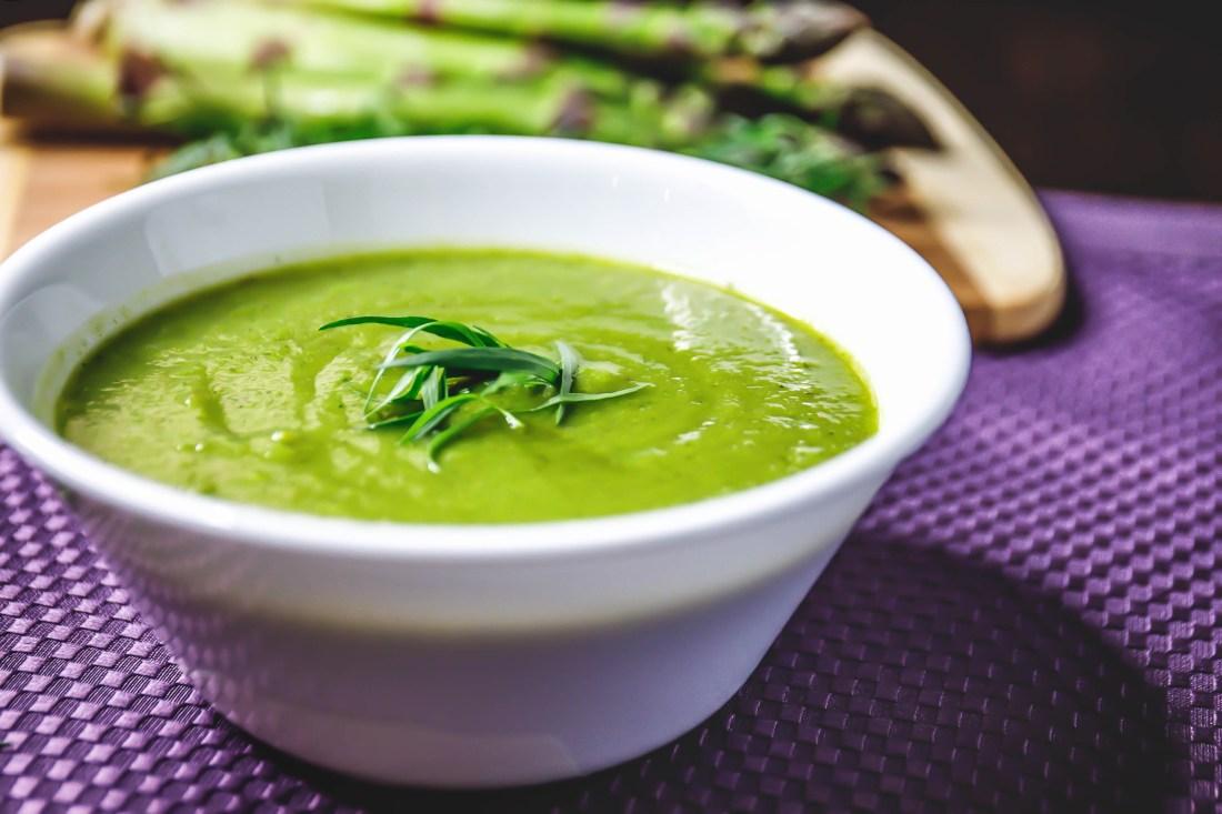 Asparagu Tarragon Pea Soup - Healthy, Plant-Based Oil-Free, Gluten-free, Dairy-Free, Vegan Recipe