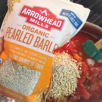 Pearl barley adds hearty, satisfying flavor this healthy vegetable soup recipe