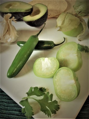 Chef's Mexican Flavor Tip: Spicy Serrano Pepper and Tangy Tomatillos give a new twist on Guacamole. This is traditional recipe from the Oaxacan region of Mexico