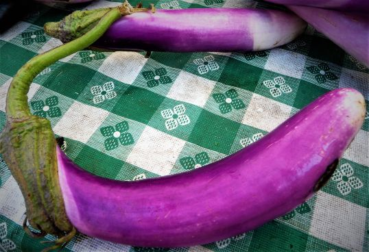 Chef's Tip: Chinese eggplant is long and slender. There's no need to peel the skin, and it cooks much faster than big globe eggplants. It's ideal for this quick, healthy weeknight stir-fry recipe