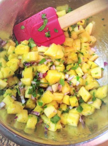 Who says salsa is just for tomatoes? Fresh pineapple adds sweet, juicy flavor