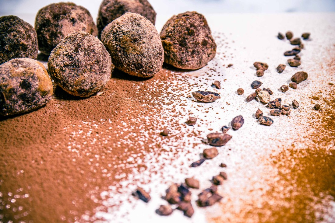 Mayan Raw Cacoa Chia Energy Balls - Healthy, Plant-Based, Oil-Free, Gluten-Free, Vegan Dessert Snack Recipe
