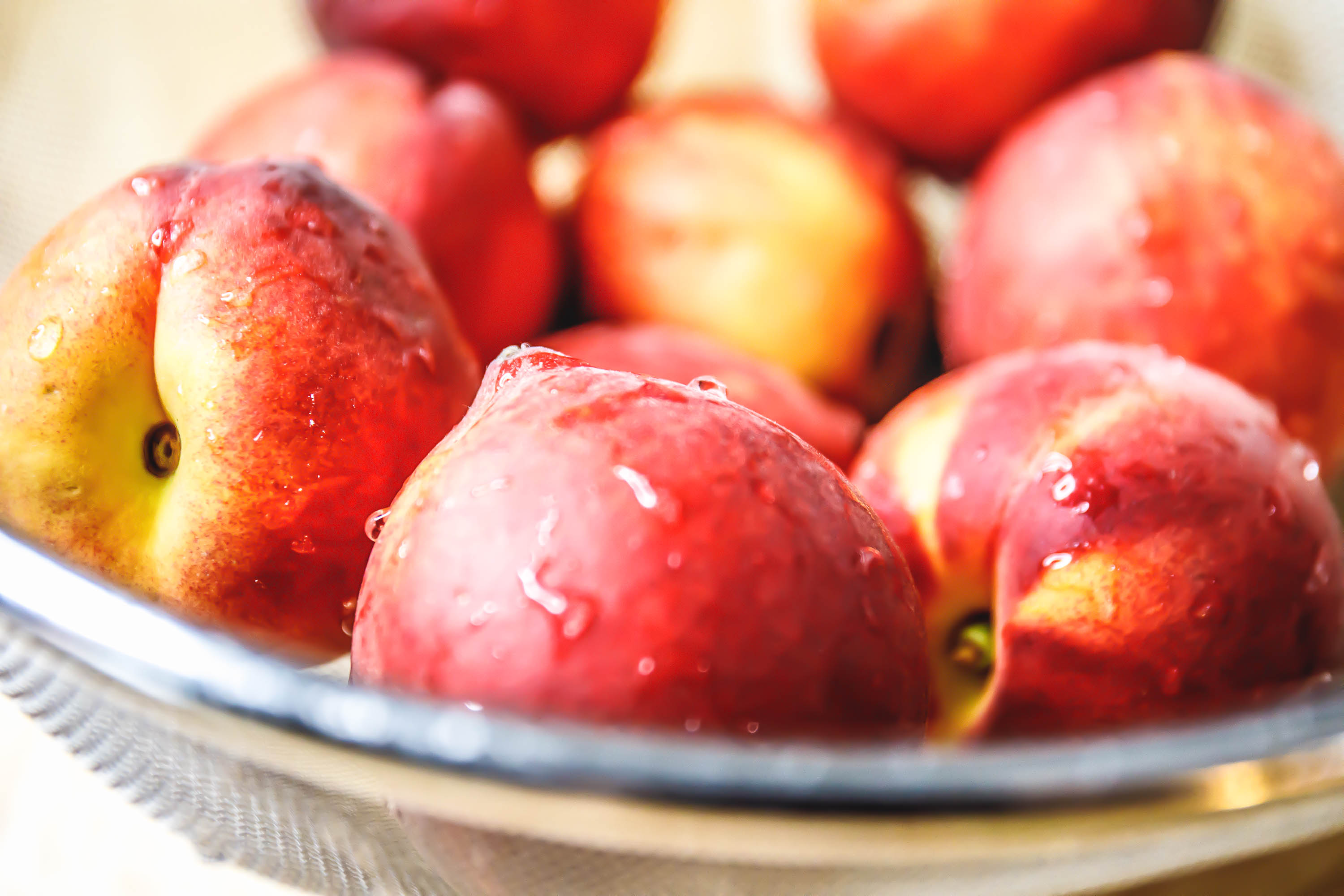 Peaches, plums, or other seasonal summer fruits work in this recipe