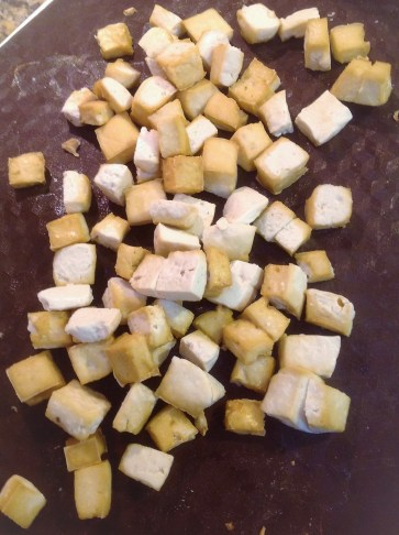Roasted tofu adds healthy plant-based protein, calcium, and fiber