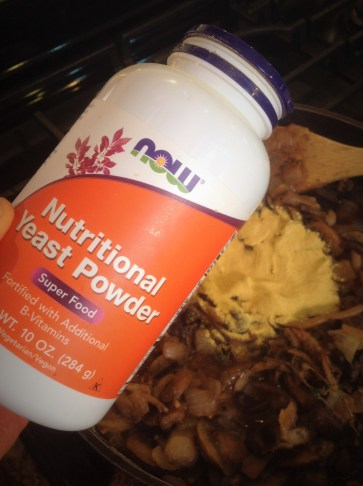 Nutritional yeast adds rich creaminess, while still dairy-free vegan