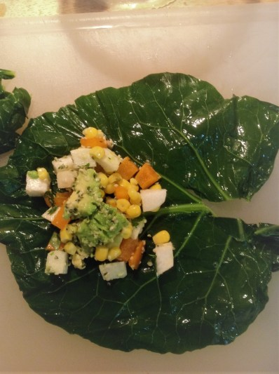 Collard Green Wraps with Raw Hemp Seed Fiesta Filling - healthy, plant-based, gluten-free, grain-free, oil-free, vegan recipe (10)
