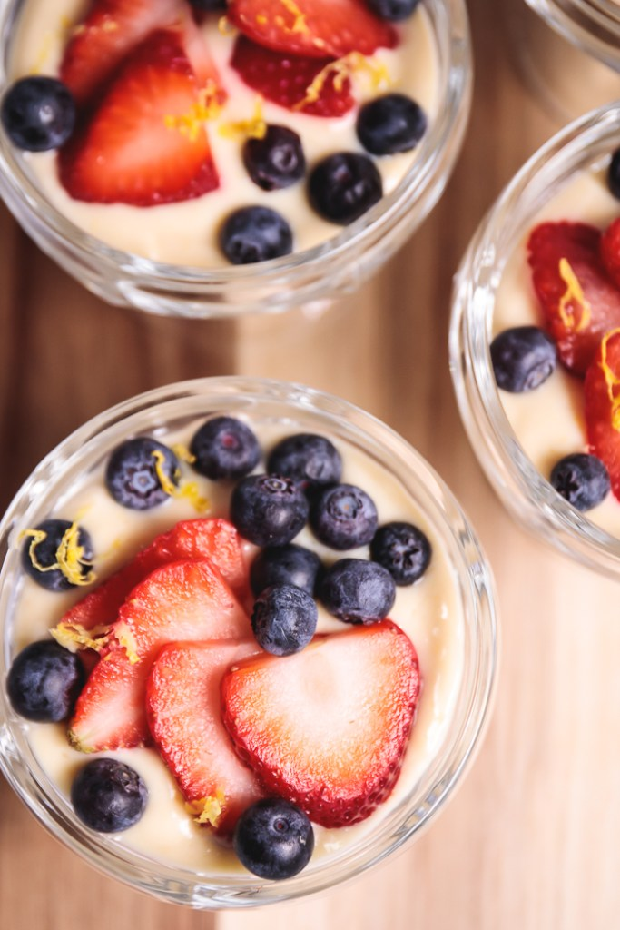 Vegan Tofu Lemon Curd with Berries - Healthy, Plant-Based, Gluten-Free, Dairy-Free, Oil-Free, Summer Dessert Recipe from Plants-Rule