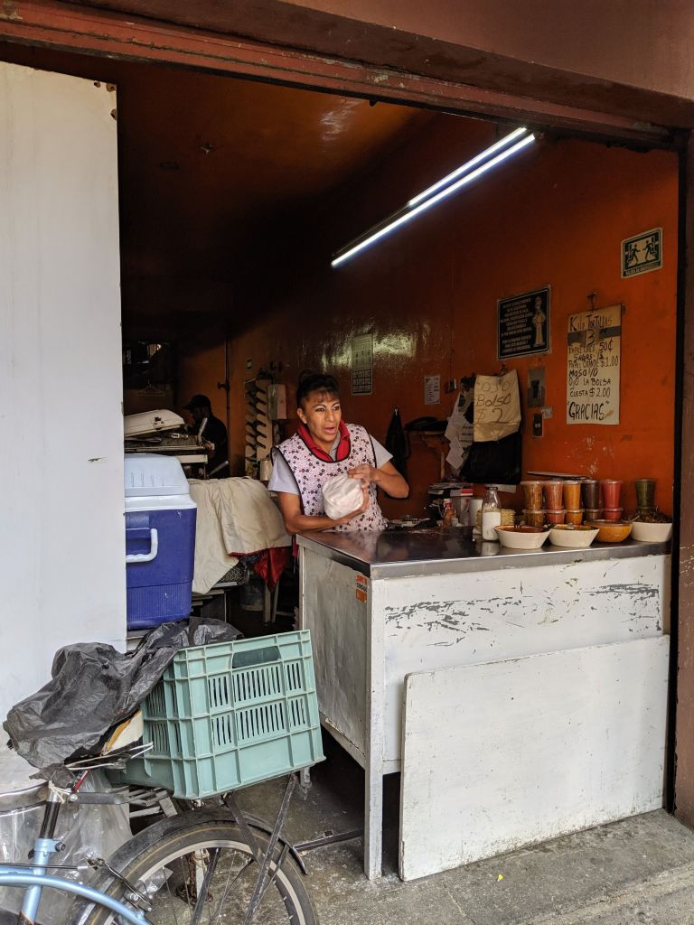 Local Taqueria on the Eat Mexico Street Food Tour Mexico City Vegan Food August 2019