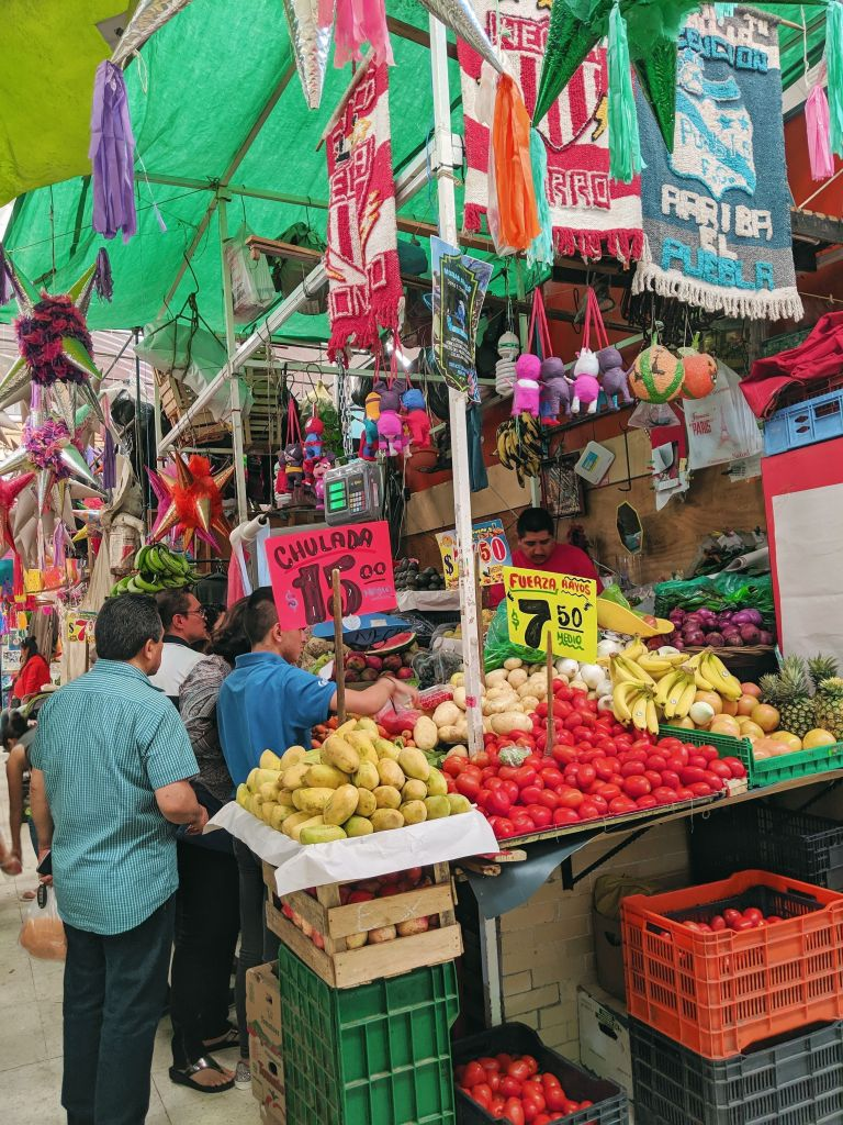 Market Fruits, Vegetables, Peppers Mexico City Vegan Food August 2019