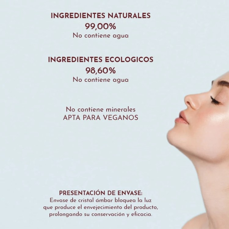 ingredientes ecologicos serum aceite facial
