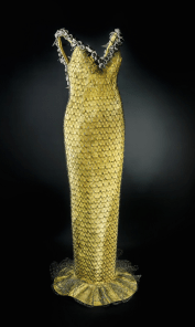 'Deborah', a shimmery full-length sculpture dress by Tattershall, looks ready for the red carpet. Image courtesy of the artist.