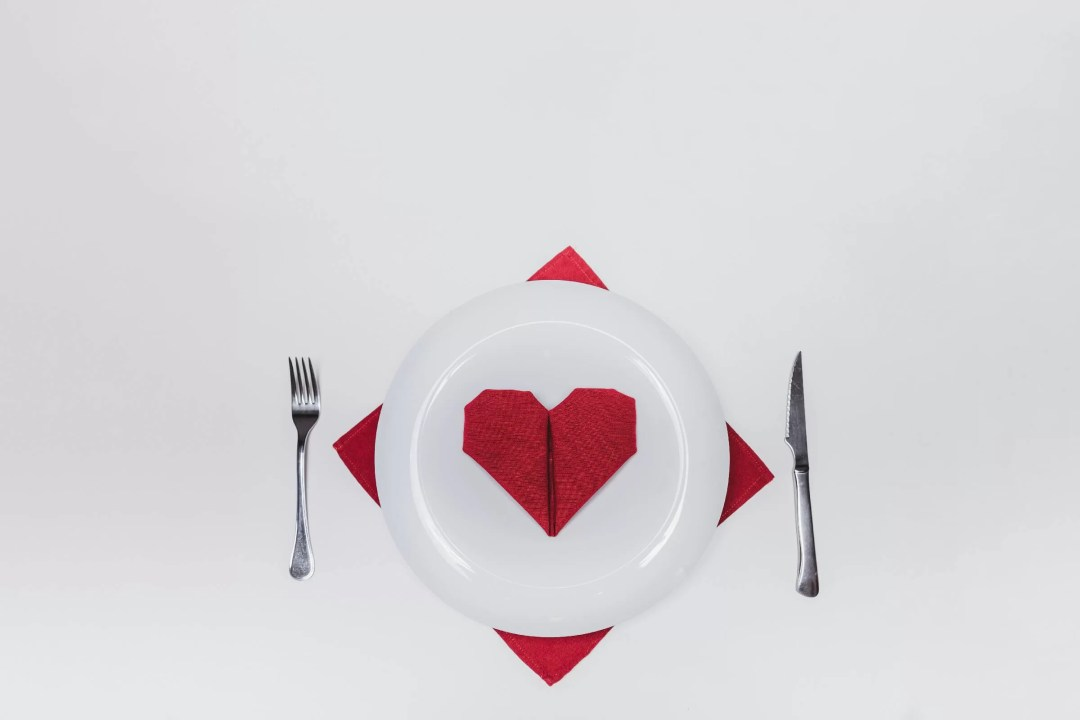 Heart Shape Napkin Fold As Valentine Decorations for Office