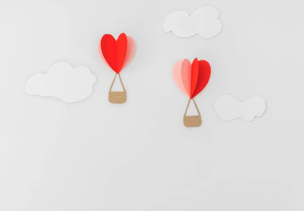 Valentines day decoration banner