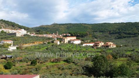 La localidad de Gata, en Sierra de Gata Extremadura