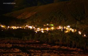 Visión nocturna de la alquería de Horcajo (Foto: Genaro Ramajal Rural)