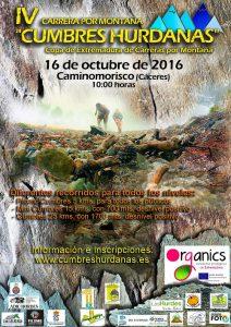 """Cartel del evento (Foto: Organización """"Cumbres Hurdanas"""")"""