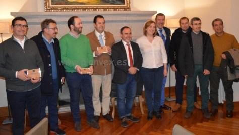 Cocineros extremeños con Francisco Martín, director general de Turismo