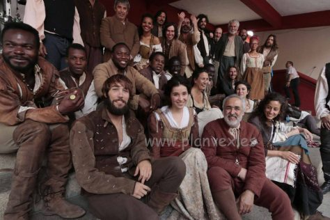 Photograph by Andy Solé of actors from Still Star Crossed in Plasencia
