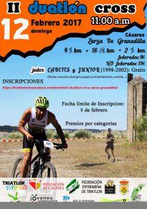 Duatlón cross 2017 Zarza de Granadilla