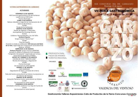Día del Garbanzo 2018 en Valencia del Ventoso