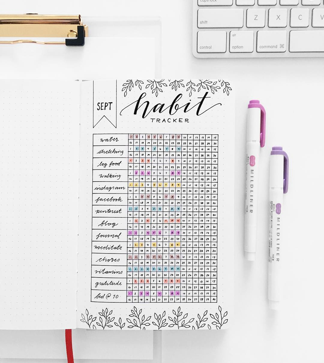 picture about Habit Tracker Free Printable named Pattern tracker : a fantastic resource towards execute aims and established up a