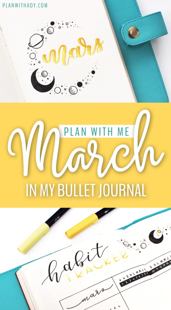 March in my bullet journal
