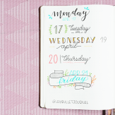 Date headers - Bullet Journal