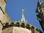 st. michel statue on top of abbey's spires