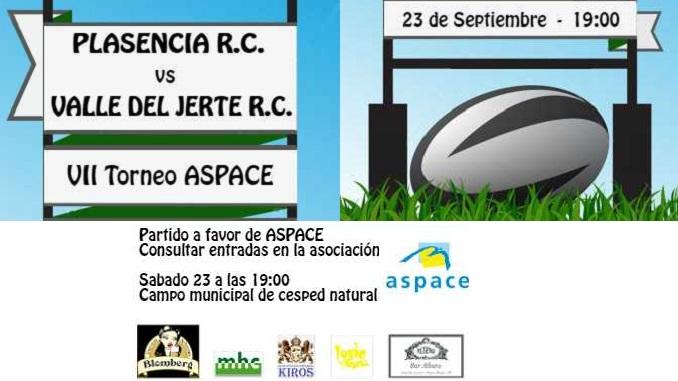 VII Torneo benéfico ASPACE de rugby en Plasencia