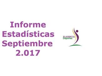 Informe de Estadísticas Septiembre Plasencia Deportes