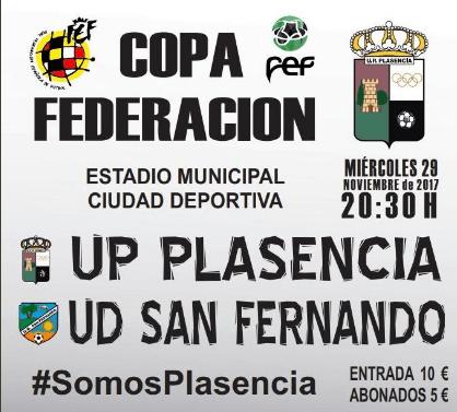 La UP Plasencia ante una bonita oportunidad (Copa Federación)