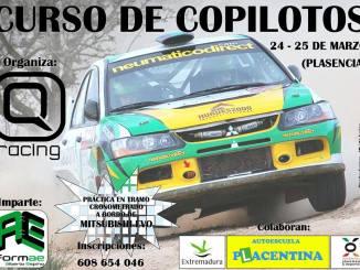 Primer curso de copilotos Q Racing 2018 en marzo en Plasencia