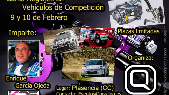 Curso de Reglajes en Vehículos de Competición impartido por Enrique García Ojeda en Plasencia