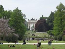 Parco Sempione y la Puerta de la Paz
