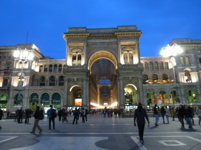 Galleria Vittorio Emanuele II de noche