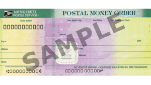 USPS sample money order