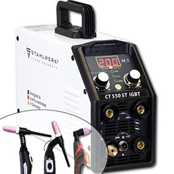 STAHLWERK CT550 ST - kompaktes WIG/MMA Schweißgerät mit Plasmaschneider bis 12mm, 200 Ampere WIG/MMA + 50 Ampere CUT, 7 Jahre Garantie, weiß - 3