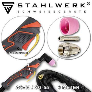 STAHLWERK CT550 ST - kompaktes WIG/MMA Schweißgerät mit Plasmaschneider bis 12mm, 200 Ampere WIG/MMA + 50 Ampere CUT, 7 Jahre Garantie, weiß - 7