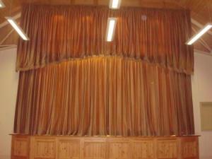stage with curtains closed