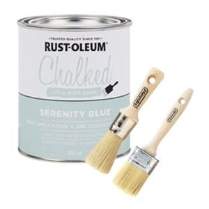 Chalk paint starter package - serenity blue