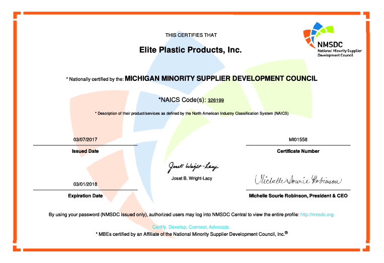 exp mbe certification plastic