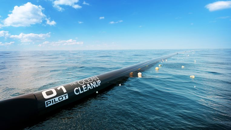 The ocean cleanup vaart uit