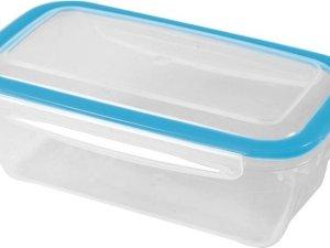 3x Voorraad/vershoudbakjes 0,75 liter transparant plastic/kunststof - Kiev - Luchtdicht/hermetisch afgesloten vershouddoos bakje - Mealprep - Maaltijden bewaren