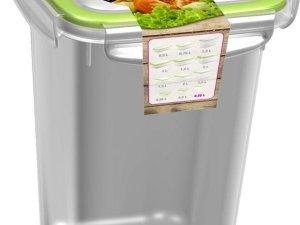 5x Voorraad/vershoudbakjes 0,75 liter transparant/groen plastic/kunststof - Kiev - Luchtdicht/hermetisch afgesloten vershouddoos bakje - Mealprep - Maaltijden bewaren