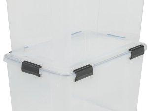 IRIS Airtight Opbergbox - 70L - 2 stuks - Transparant/Zwart